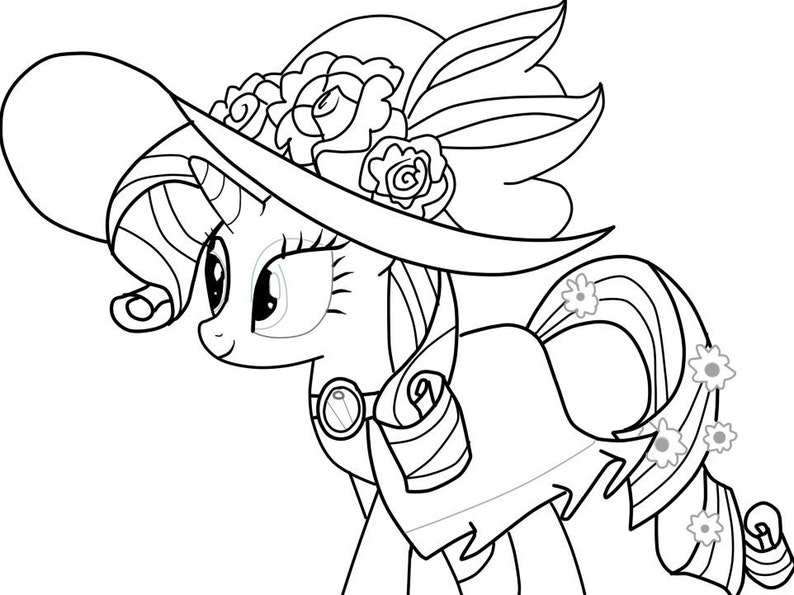 Coloring book Unicorn JPEG PDF Coloring pages Download | Etsy