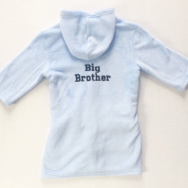 Sibling Set Matching Sibling Robe Big Brother and Little Sister Matching Kids Dressing Gown