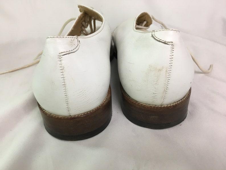 Men/'s Vintage British Style Low Cut Desert Shoes  White Genuine Leather Classic Shoes on Laces  Size EU 42 Luxury White Shoes