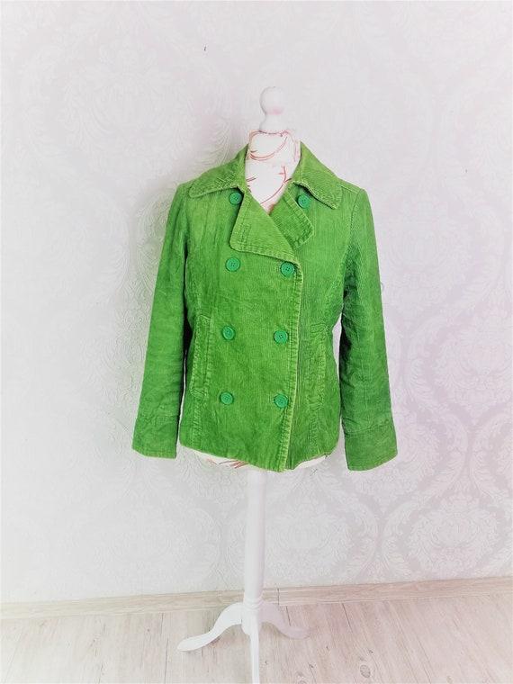 Vintage Cotton Ribbed Velvet Trench Coat Women / B