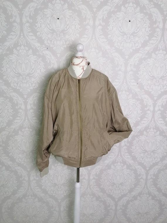 Vintage Silk Bomber Jacket / Unisex 90s Trends Met