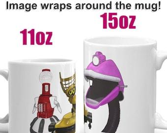 Mystery Science Theater 3000 (MST3K) Inspired Robot Fan Art Coffee Mug