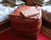 15 OFF Leather pouf, pouf ottoman, leather ottoman, oversized pouffe,poef, moroccan ottoman, floor pillow, cushion.