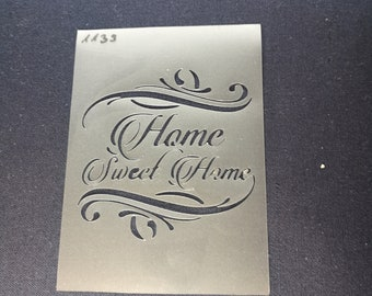 Shabby Chic plastic Stencil Home sweet sweetie letter Vintage A4 297x210mm