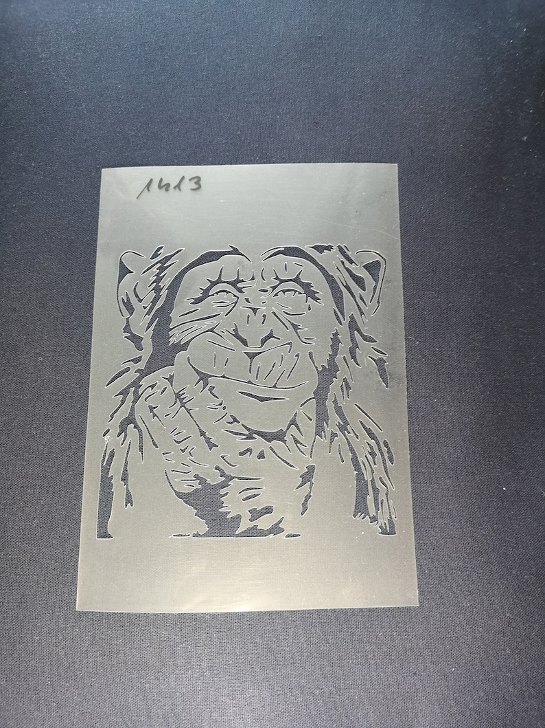 Monkey stencil,flexible,reusable,125micron,wall decor,home decor,furniture painting,card making,craft stencils,fabric paint,wood sign,art