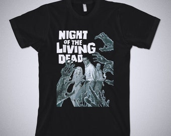 a2237f25 Night of the Living Dead shirt - George Romero, Zombie shirt, Horror,  Graphic Tee, Horror Movie shirt