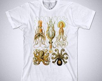 Ernst Haeckel t-shirt - Gamochonia ( Octopus ), Art Forms of Nature - 1904, Octopus tee shirt, Squid t shirt, Vintage Illustration