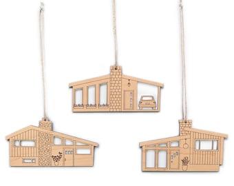 Mid-Century Modern Ornaments- Set of 3