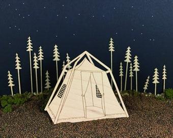 Tent Ornaments, set of 3
