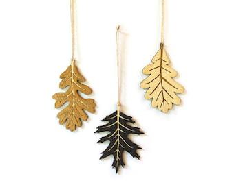 Fall Oak Leaves, Set of 3