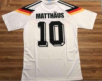 Germany 1990 matthäus world cup soccer jersey vintage fooball classic shirt  old football shirts retro soccer vintage germany 45a76b181