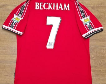 c88604606a8 manchester utd beckham 1998 1999 soccer jersey vintage fooball classic  shirt football jersey football shirt manchester utd jersey
