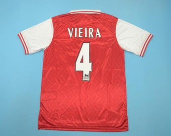 adac9025f Vieira Arsenal 1996 soccer jersey vintage fooball classic shirt sport shirt  football shirt With premier league patch
