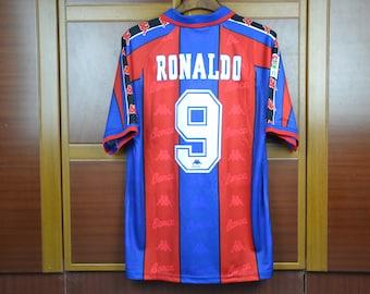 4e498cf4dab ronaldo 1997 barcelona retro soccer jersey vintage football shirt classic football  shirts best retro football shirts old football kits