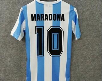 9be2e16c2 argentina maradona 1986 world cup home retro soccer jersey vintage fooball  classic shirt sport shirt football shirt
