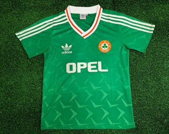 adff5b7b80d ireland 1990 soccer jersey vintage fooball classic shirt football jersey  football shirt jersey retro classic football shirts