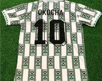retro world cup nigeria jay jay okocha soccer jersey vintage fooball  classic shirt old football shirts classic football shirts 5db59f5a9