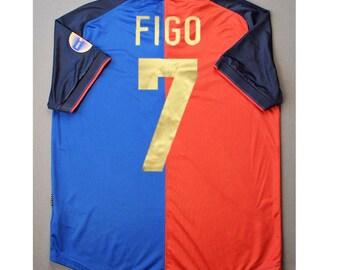 f32db4903 figo 1999 retro soccer jersey vintage fooball classic shirt old football  shirts retro soccer vintage barcelona