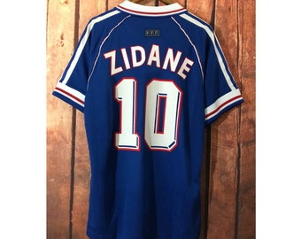 2e975cde9 retro france 1998 world cup final zidane soccer jersey vintage fooball  classic shirt