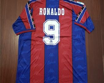 751563cc260 ronaldo 1997 barcelona retro soccer jersey vintage football shirt classic  football shirts best retro football shirts old football kits