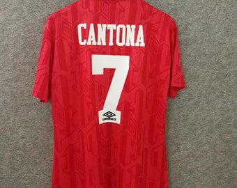 97f0893be cantona 1994 home manchester united retro soccer jersey vintage football  shirt classic football shirts best retro football shirts