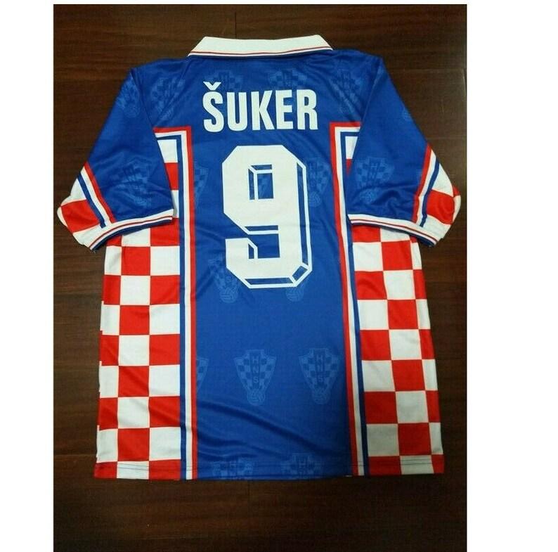 12b8fb40e Croatia 1998 world cup suker retro soccer jersey vintage