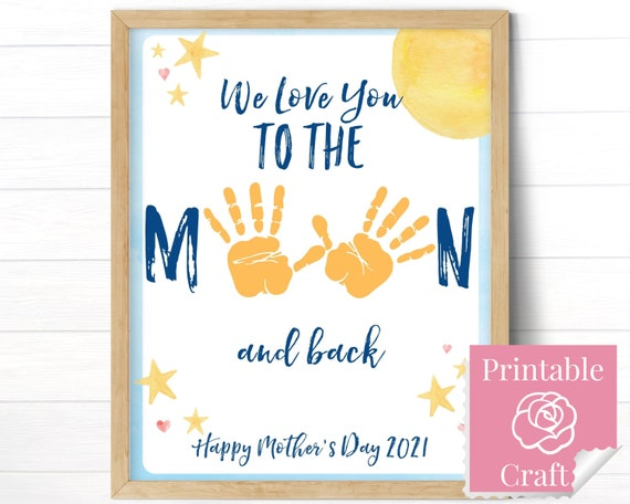 We Love You To The Moon and Back Mother's Day Gift from
