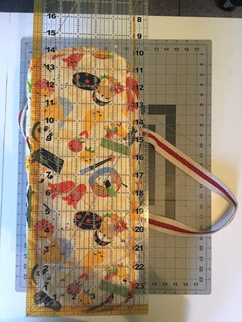 Sushi  reusable washable grocery  tote bag