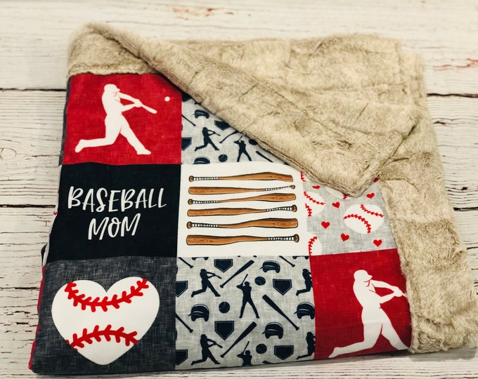Baseball Mom Minky Blankets & Bedding (+ FREE NAME EMBROIDERY)