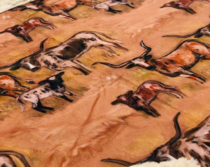 Cattle Herd Minky Blankets & Bedding (+ FREE NAME EMBROIDERY)
