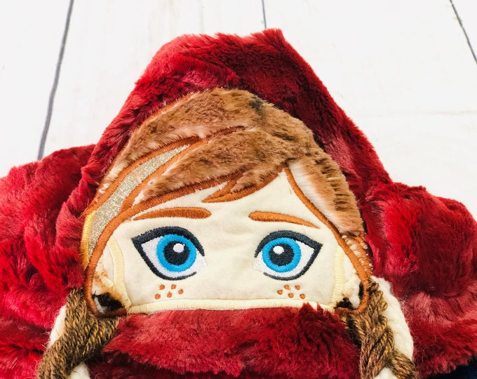 Anna (Frozen) Minky Hooded Blankets (+ FREE NAME EMBROIDERY)