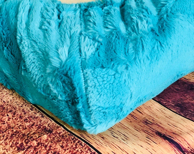 Changing Pad Cover-Teal Breeze Hide