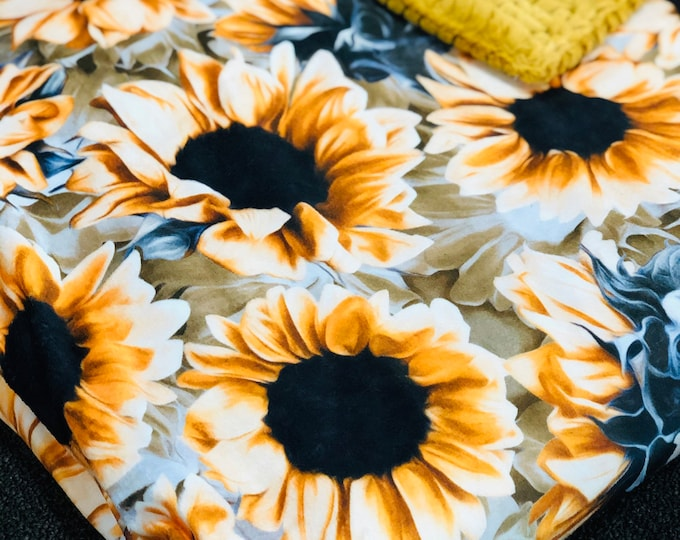"""FREE NAME EMBROIDERY-""""Harvest Autumn Sunflowers"""" Minky Blankets & Bedding"""