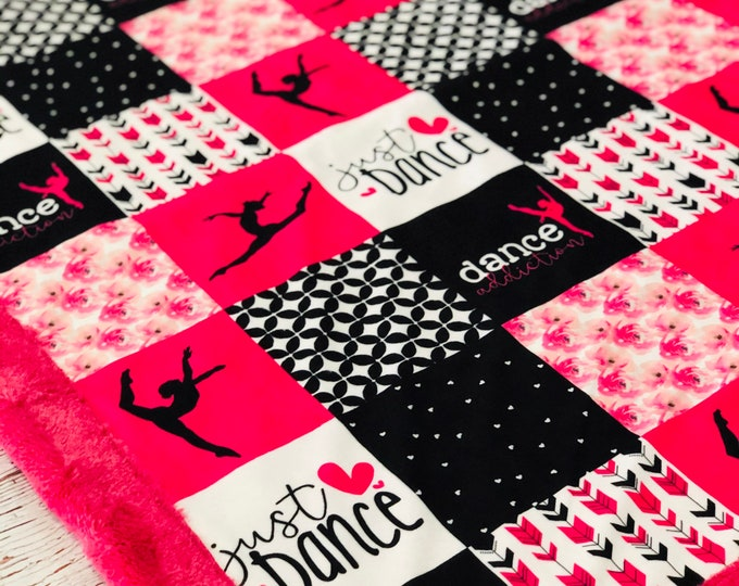 Dance Addiction Minky Blankets & Bedding (+ FREE NAME EMBROIDERY)