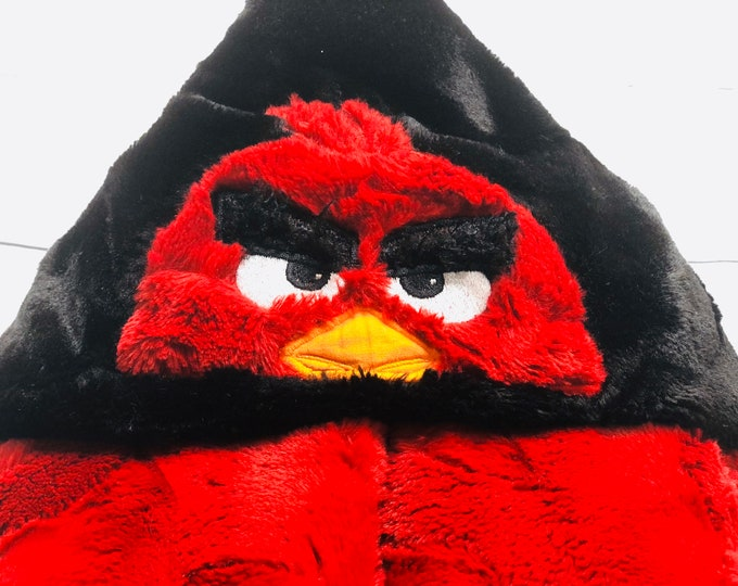 Red Angry Bird Hooded Blanket (+FREE NAME Embroidery)