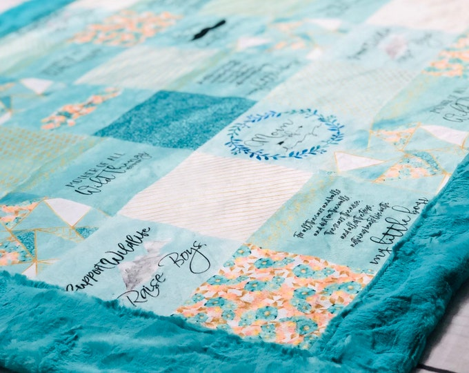 """FREE NAME EMBROIDERY-""""Boy Mom"""" Minky Blankets & Bedding"""