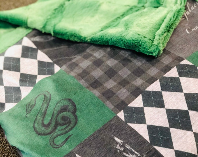 """FREE NAME EMBROIDERY-""""Snake Wizard"""" Minky Blankets & Bedding"""