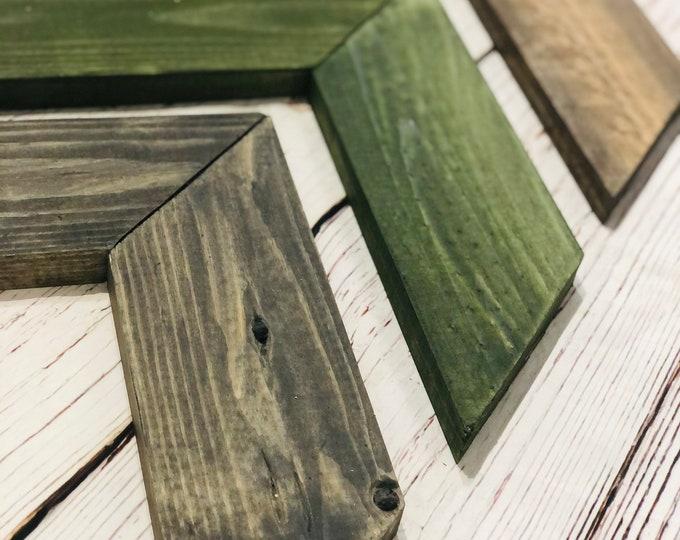 Rustic Mountain Fog Wooden Chevron Arrows-Set of 3