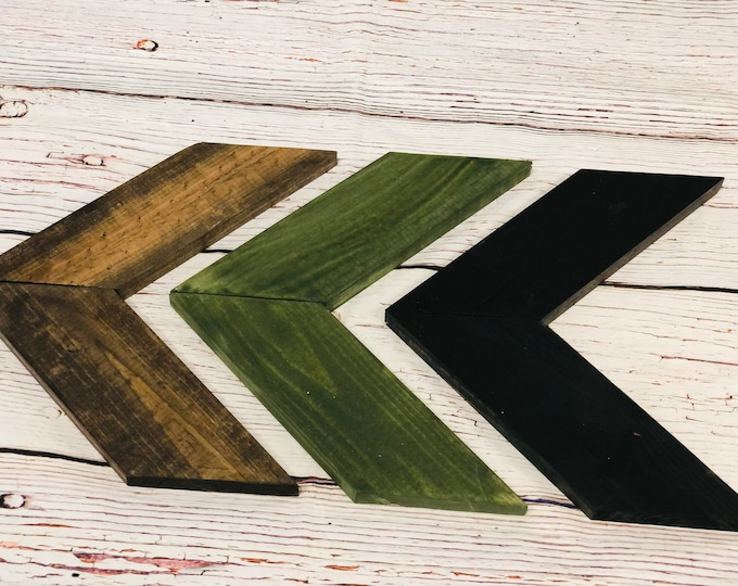 Into The Woods Wooden Chevron Arrows-Set of 3