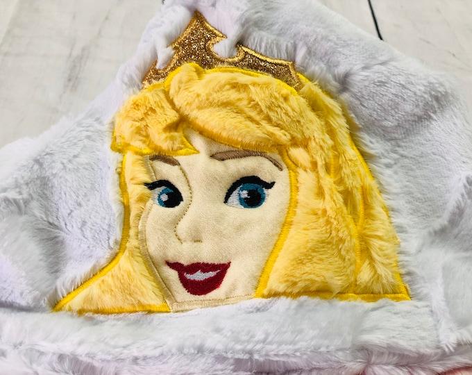 Aurora (Sleeping Beauty) Minky Hooded Blankets (+ FREE NAME EMBROIDERY)