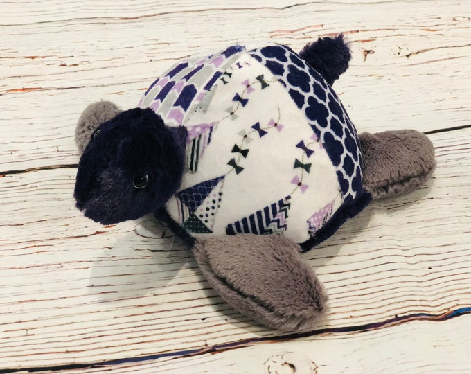 """FREE NAME EMBROIDERY-""""Mary Poppins"""" Themed Minky Turtle Stuffie"""