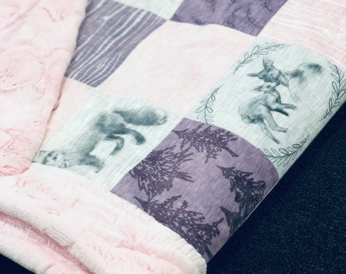 """FREE NAME EMBROIDERY-""""I'll Love You Forever"""" Minky Blankets & Bedding"""
