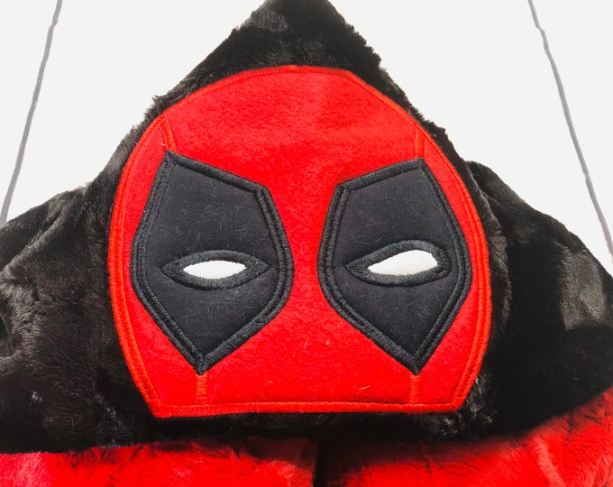 Dead Pool Hooded Blanket (+ FREE Name Embroidery)
