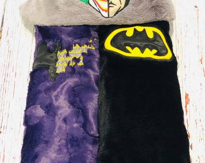 Dual Villian/Hero Combo Hooded Minky Blankets