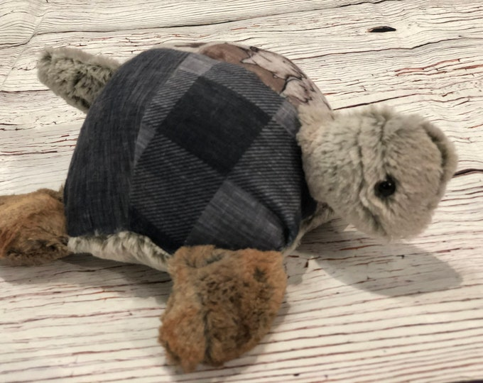 """FREE NAME EMBROIDERY-""""Farm Life"""" Themed Turtle Stuffie"""