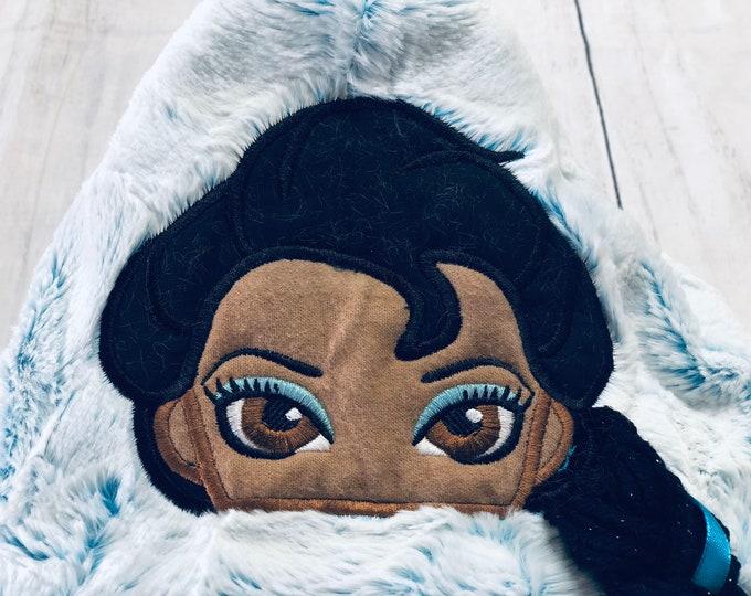 Elsa (African American) Hooded Blanket
