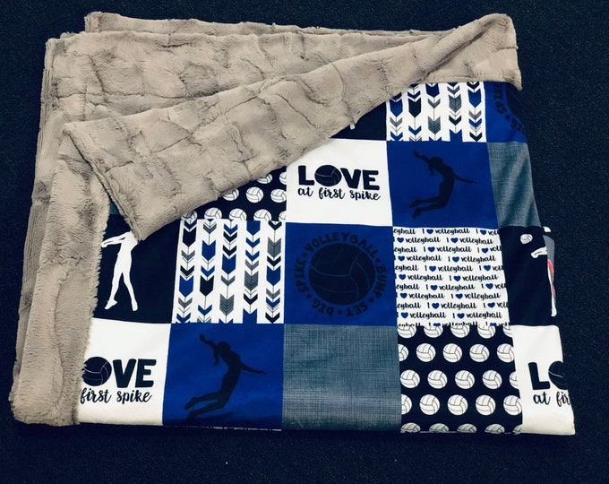"""FREE NAME EMBROIDERY-""""Love At First Spike"""" Minky Blankets & Bedding"""