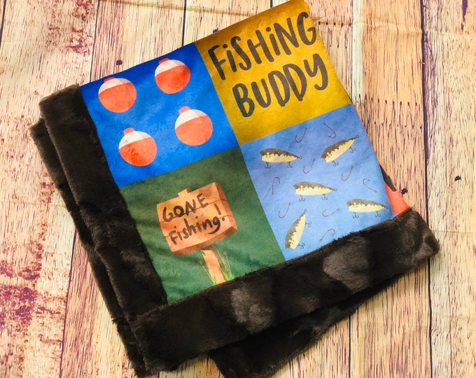 Fishing Buddy Minky Blankets & Bedding (+ FREE NAME EMBROIDERY)