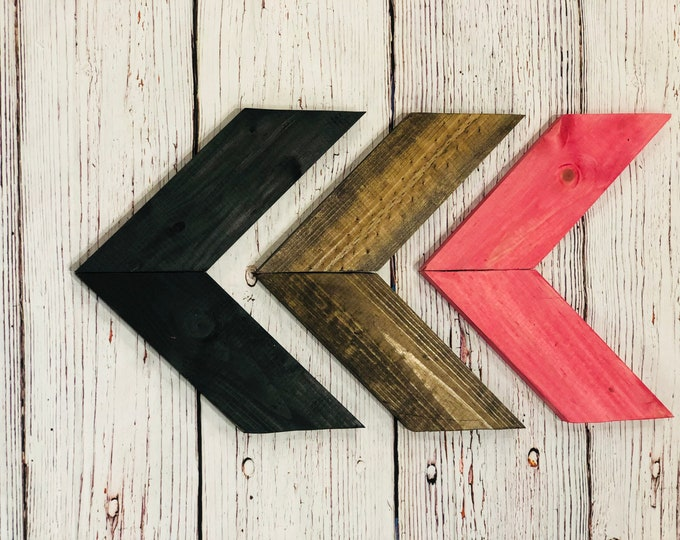 Classy & Sassy Wooden Chevron Arrows-Set of 3