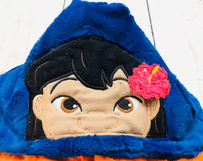 Lilo (Lilo & Stitch) Minky Hooded Blankets (+ FREE NAME EMBROIDERY)